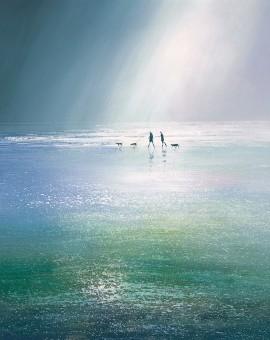 Michael Sanders Rainstorm Wychwood art beach print buy art online