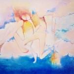 Dancers on tour,24ins.x16ins.acrylic on canvas.Gerard TunneyWychwood Art..2015.£650.