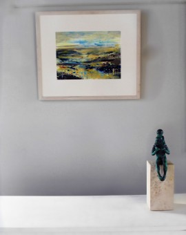 James Tatum, River Exe, Original Seascape, River Exmouth Art, Devon Art, Contemporary Abstract Art