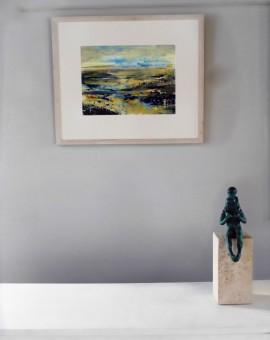James Tatum, River Exe, Original Seascape, River Exmouth Art, Devon Art, Contemporary Abstract Art