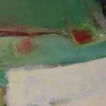 Jon Rowland, Green Abstract Art 4