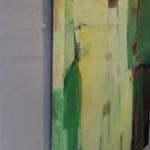 Jon Rowland, Green Abstract Art 7