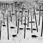 Tim Southall, Hunters in the Snow, Wychwood art