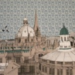 Clare Halifax Flying over Oxford Rooftops Wychwood art