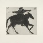 Kate Boxer Dick Turpin on his way to York Wychwood art