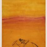 Kate Boxer It's Today I Think (orange and red cowboy) Wychwoodart