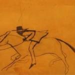 Kate-Boxer-Its-Today-I-Think-orange-and-red-cowboy-Wychwoodart copy 3