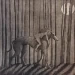 Sophie Ryder Girl on Dog Wychwood art