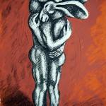 Sophie Ryder Hugging Wychwood art