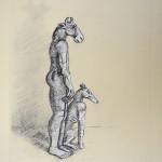 Sophie Ryder Standing Minotaur with Dog Wychwoodart
