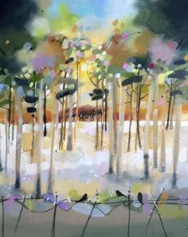 Emma Wilson Morning Walk, Duchal Woods Wychwood art