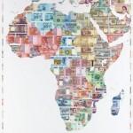Justine Smith Money Map of Africa Wychwood art