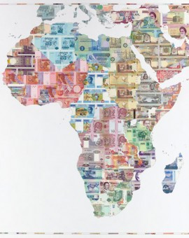 Justine Smith Money Map of Africa Wychwood art