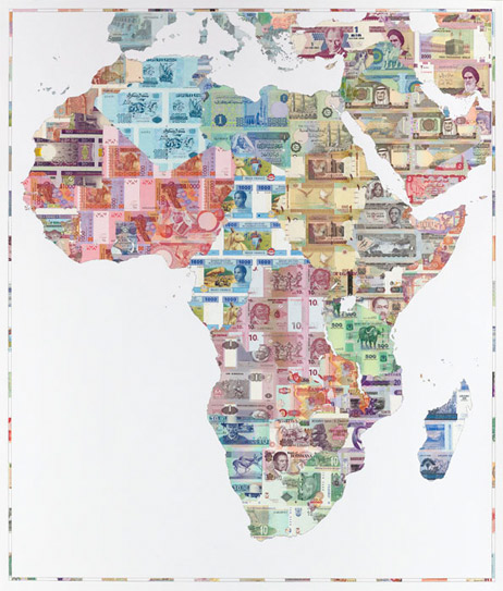 Justine Smith | Money Map of Africa | buy art | modern art