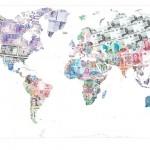 Justine Smith Money Map of the World Wychwood art