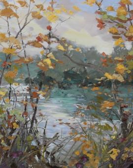 Paul Treasure Teal and Willow Wychwood art