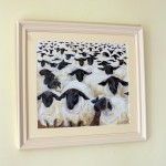Flock of sheep framed