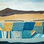Jessica Leighton Blue and Yellow Striped Fields Wychwood Art