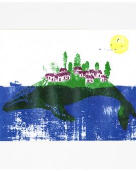 Katie Edwards Whale Island Wychwood art