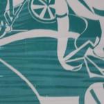 Lisa Takahashi, Cycling Art, Blue Art, Turquoise Art, Bright Art, Sports Art 2