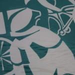 Lisa Takahashi, Cycling Art, Blue Art, Turquoise Art, Bright Art, Sports Art 4