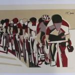 Lisa Takahashi, Echelon, Limited Edition Print, Bicycle Art