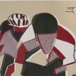 Lisa Takahashi, Echelon, Limited Edition Print, Bicycle Art 2