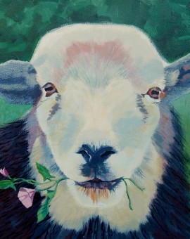 Margaret Crutchley Sheep with Bindweed Wychwood Art.jpeg.