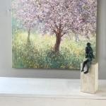 Mariusz Kaldowski, Cherry Tree, Original Painting, Landscape Art 11
