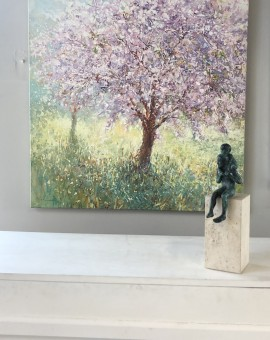 Mariusz Kaldowski, Cherry Tree, Original Painting, Landscape Art 11