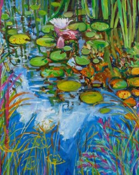 Phyliss Wolff Pond Dillweed and Catmint Wychwood art