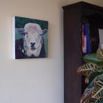 Sheep with Bindweed on wall 2