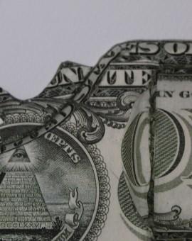 Justine Smith, Gunshot, Dollar Art, Surrealist Art, Political Art, Conceptual Art