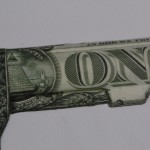 Justine Smith, Gunshot, Dollar Art, Surrealist Art, Political Art, Conceptual Art.JPG 4