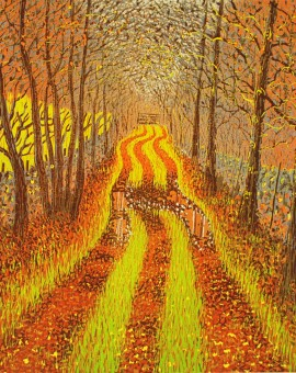 Mark A Pearce Autumn Lane wychwood art