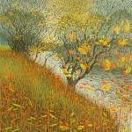 Mark A Pearce Autumn Riverbank wychwood art