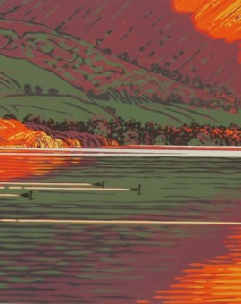 Mark A Pearce Mergansers on Wastwater wychwood art
