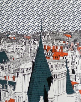 Clare Halifax Cambridge Rooftops Wychwood Art