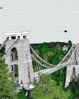 Clare Halifax Crossing Clifton Bridge Wychwood Art