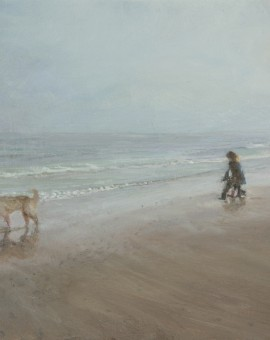 Sarah Spencer J and P on Holkham Beach Wychwood Art