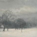 Srah Spencer Snow and Telegraph Pole Wychwood Art