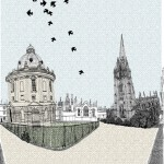 Clare Halifax Nesting in Radciffe Square screen prints Oxford