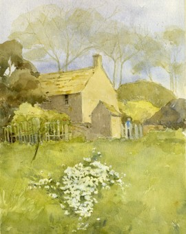 Cottage with Snowdrops.EM