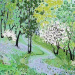 Katie Allen Allt Rhyd y Groes 1 woodland Print