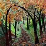 Katie Allen Autumn Tree Tunnel woodland art