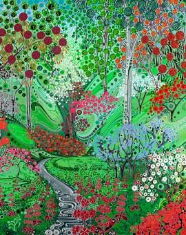Katie Allen Bodnant-Gardens Giclee Print