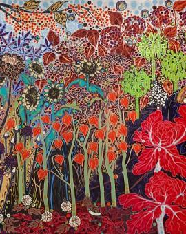Katie Allen Botanical Gardens Autumn Garden flower print