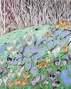 Katie Allen Crocus Woodland woodland art