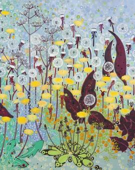 Katie Allen Dandelions flower art