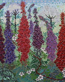 Katie Allen Foxgloves. Flowers